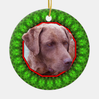 Chesapeake Bay Retriever Happy Howliday Christmas Ornaments