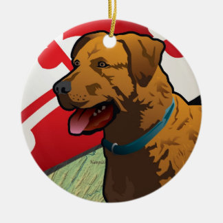 "Chesapeake Bay Retriever of Maryland, ""Chessie"" Christmas Ornament"