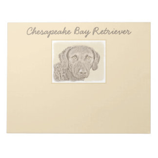 Chesapeake Bay Retriever Painting Original Dog Art Notepad