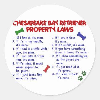 CHESAPEAKE BAY RETRIEVER Property Laws 2 Classic Round Sticker
