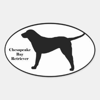 Chesapeake Bay Retriever SIlhouette Oval Sticker