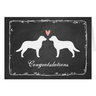 Chesapeake Bay Retrievers Wedding Congratulations Card