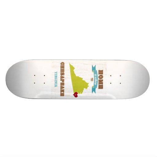 Chesapeake, Virginia Map – Home Is Where Skate Board Decks