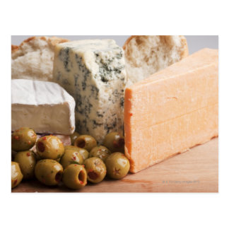 chese and olives postcard
