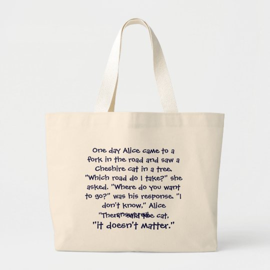 Cheshire Cat Advice Bag