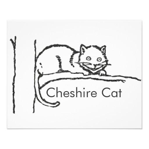 Cheshire Cat & Alice in Doorway Coloring Sheets Flyer