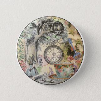 Cheshire Cat Alice in Wonderland 6 Cm Round Badge