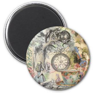 Cheshire Cat Alice in Wonderland 6 Cm Round Magnet