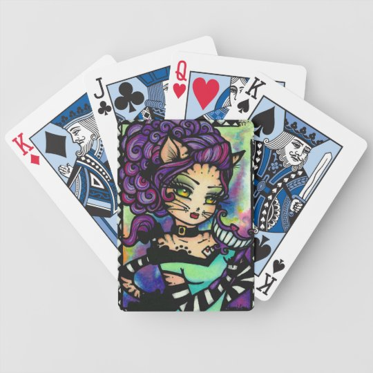 Cheshire Cat Alice in Wonderland Art Playing Cards