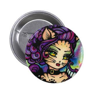 Cheshire Cat Alice in Wonderland Fairy Fantasy 6 Cm Round Badge