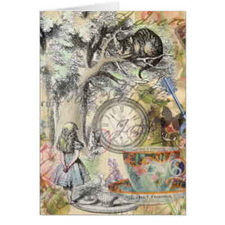 Cheshire Cat Alice in Wonderland Greeting Card