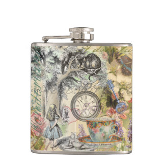 Cheshire Cat Alice in Wonderland Hip Flask