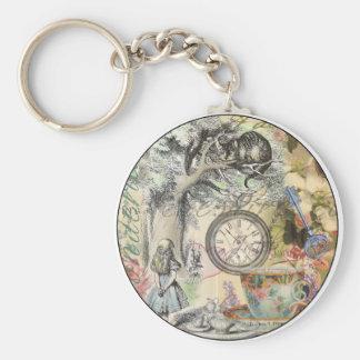 Cheshire Cat Alice in Wonderland Key Ring