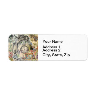 Cheshire Cat Alice in Wonderland Return Address Label
