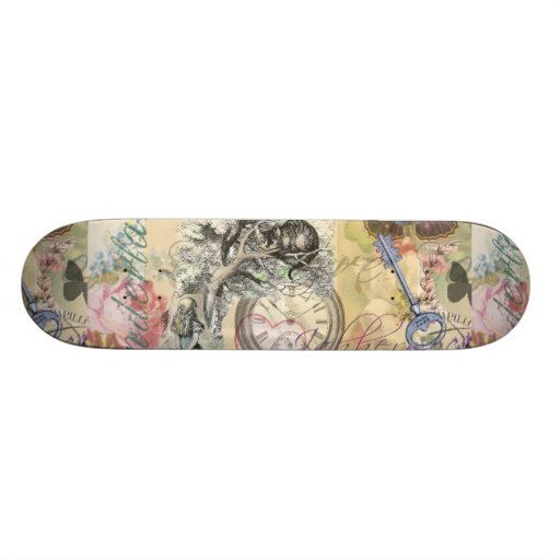 Cheshire Cat Alice in Wonderland Skate Board Deck