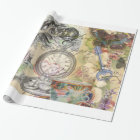 Cheshire Cat Alice in Wonderland Wrapping Paper