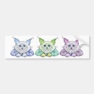 Cheshire Cat Bumper Sticker