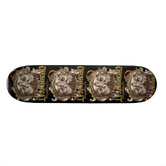 Cheshire Cat Carnivale Style (Gold Version) Skate Board