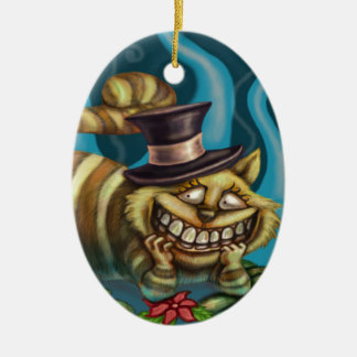 Cheshire Cat Ceramic Oval Decoration