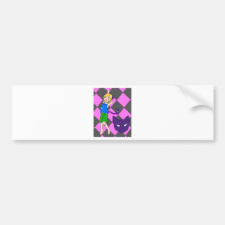 Cheshire Cat Child Bumper Sticker
