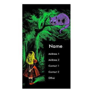 """""""Cheshire Cat"""" from Alice in Wonderland 2011 Card Pack Of Standard Business Cards"""