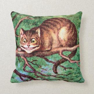 Cheshire Cat in Wonderland Throw Pillow