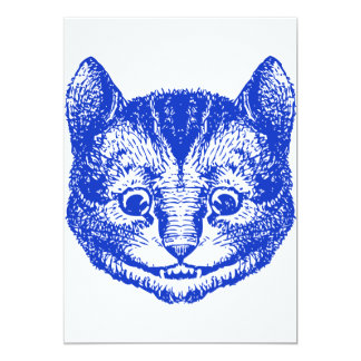 Cheshire Cat Inked Blue 13 Cm X 18 Cm Invitation Card