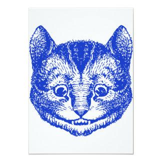 "Cheshire Cat Inked Blue 5"" X 7"" Invitation Card"