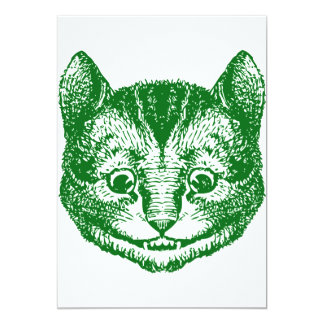 Cheshire Cat Inked Green 13 Cm X 18 Cm Invitation Card