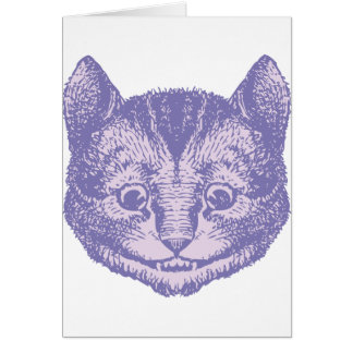 Cheshire Cat Inked Lavender Greeting Card