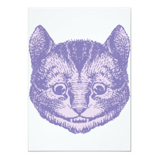 Cheshire Cat Inked Lavender 13 Cm X 18 Cm Invitation Card