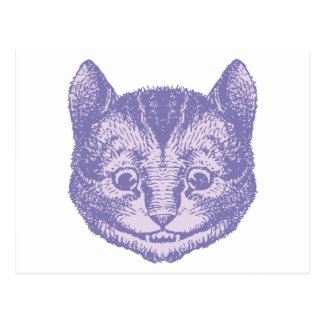 Cheshire Cat Inked Lavender Post Cards