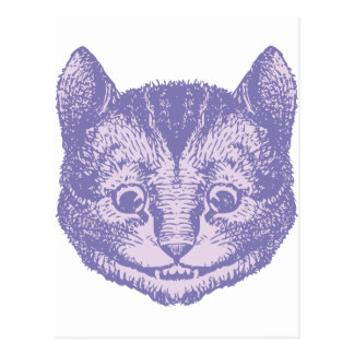 Cheshire Cat Inked Lavender Postcard