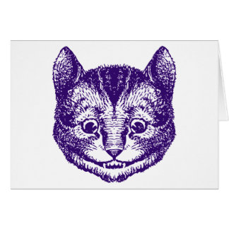 Cheshire Cat Inked Purple Greeting Cards