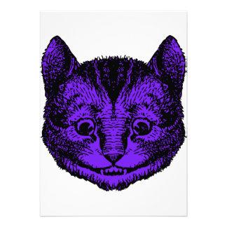 Cheshire Cat Inked Purple Fill Invites