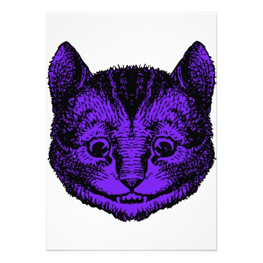 Cheshire Cat Inked Purple Fill Invites