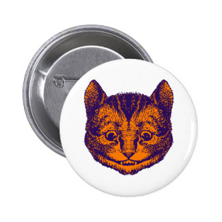 Cheshire Cat Inked Purple Orange 6 Cm Round Badge