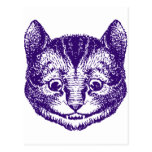 Cheshire Cat Inked Purple Postcard