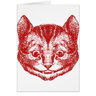Cheshire Cat Inked Red Card
