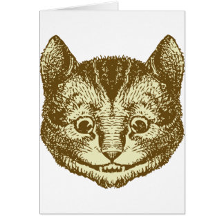 Cheshire Cat Inked Sepia Greeting Cards