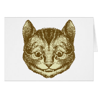 Cheshire Cat Inked Sepia Cards