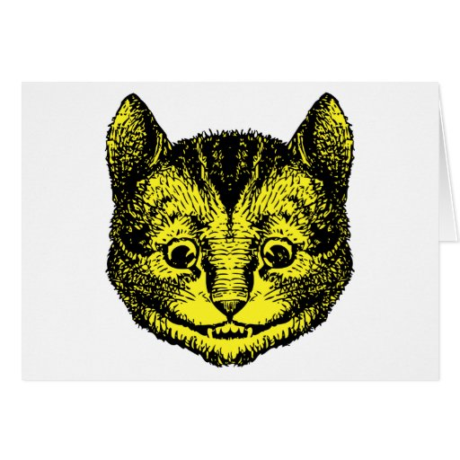 Cheshire Cat Inked Yellow Fill Card