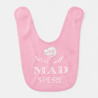 Cheshire Cat Mad Alice Pink Bib
