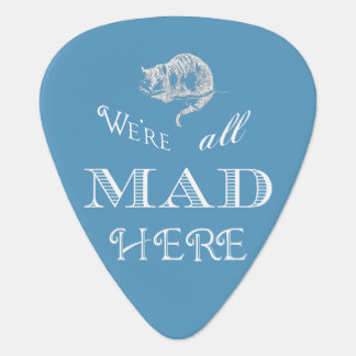Cheshire Cat Mad Blue Guitar Pick
