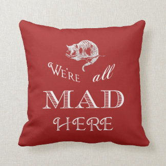 Cheshire Cat Mad Pillow