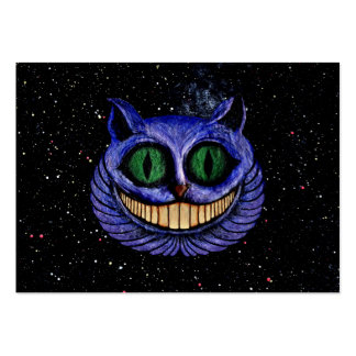 CHESHIRE CAT on OUTER SPACE STARS EXPANSE design Pack Of Chubby Business Cards