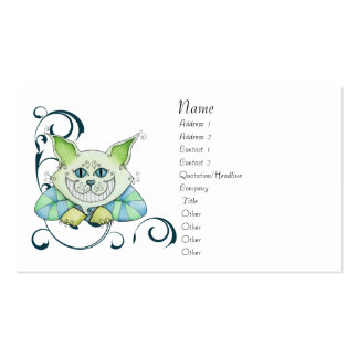 Cheshire Cat Profile Card Pack Of Standard Business Cards