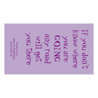 Cheshire Cat quote card Pack Of Standard Business Cards