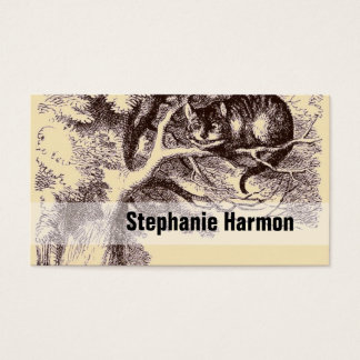 Cheshire Cat Sepia | Vintage Alice in Wonderland Business Card