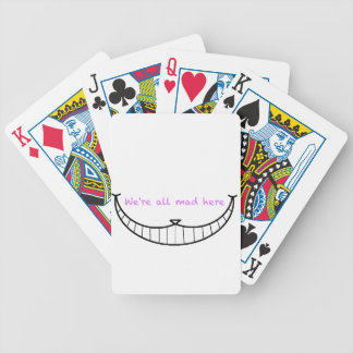 Cheshire Cat Smile Bicycle Playing Cards